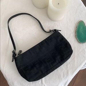 Authentic Fendi Zucca Print Canvas Shoulder Bag